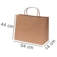 Kraftpapiertasche BUDGET SIX | 54 x 14 x 44 cm