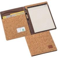 A4 Kork Schreibmappe mit Block und Kugelschreiberschlaufe