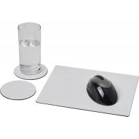 Brite-Mat® Mousepad- und Untersetzer-Set 2 | Schwarz