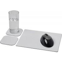 Brite-Mat® Mousepad- und Untersetzer-Set 3 | Schwarz