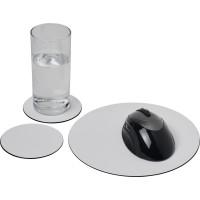 Brite-Mat® Mousepad- und Untersetzer-Set 5 | Schwarz