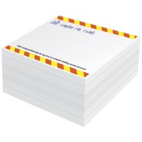Block-Mate® 1C kleiner Notizblock | Weiss