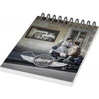 Desk-Mate® A6 Notizbuch mit Kunststoff Cover und Spiralbindung | 50 | Weiss,Schwarz