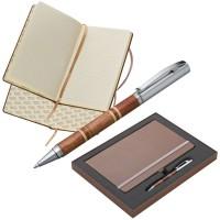 Mark Twain Set aus Notizbuch und Kugelschreiber