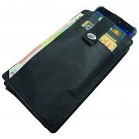 """Blackmaxx® Handygeldbörse """"Mobile&Money"""" BIG schwarz"""