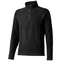 Bowlen Langarm Fleeceshirt mit 1/4 Reißverschluss | XXL | Schwarz