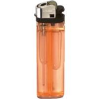 Reiberad-Feuerzeug Transparent | Orange