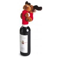 Flaschenhalsüberzug für Weinflaschen MOOSE als Werbemittel in rot