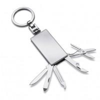Werkzeugset mit Schlüsselanhänger REFLECTS-MILAN als Werbemittel in Silber