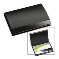 Visitenkartenbox REFLECTS-KOLLAM als Werbemittel in Schwarz