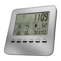 Wetterstation mit Außensensor REFLECTS-IPSWICH als Werbemittel in Silber