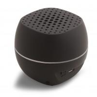 Lautsprecher mit Bluetooth® Technologie REFLECTS BLACK als Werbemittel in Schwarz
