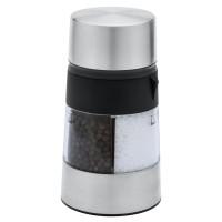 3-in-1 Salz- und Pfeffermühle REFLECTS-CLAMART als Werbemittel in Schwarz/Silber