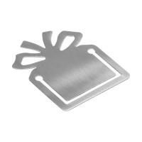 Lesezeichen REFLECTS-TUPELO als Werbemittel in Silber