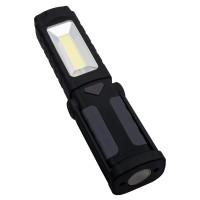 Multifunktions-Taschenlampe REFLECTS-PELOTAS als Werbemittel in Schwarz/Grau