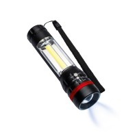 Multifunktions-Taschenlampe REFLECTS-BOGRA als Werbemittel in Schwarz
