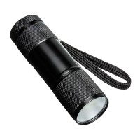 Taschenlampe REFLECTS-FORLI als Werbemittel in Schwarz