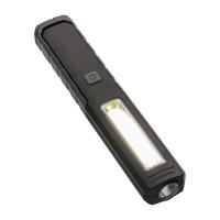 Multifunktions-Taschenlampe REFLECTS-MATURIN als Werbemittel in Schwarz/Grau