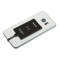 Wireless charging receiver (micro-USB) REFLECTS-LONDRINA als Werbemittel in Schwarz