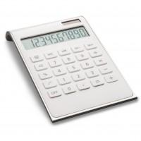 Taschenrechner REFLECTS VALINDA WHITE SILVER als Werbemittel in Silber, Weiß