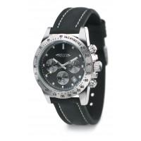 Armbanduhr REFLECTS-CHRONO als Werbemittel in Schwarz, Silber