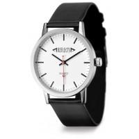 Armbanduhr REFLECTS-CLASSIC als Werbemittel in Schwarz, Silber