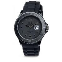 Armbanduhr LOLLICLOCK-DATE BLACK als Werbemittel in Schwarz
