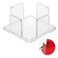 Zettelbox, dickwandig | Glasklar