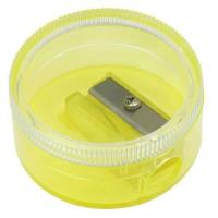 Bleistiftspitzer, Runddose | Glasklar