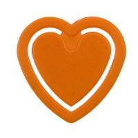 Zettelklammer Herzform | Orange