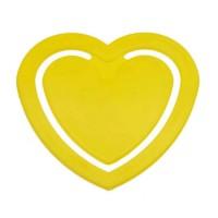 Zettelklammer Herzform mini | Gelb