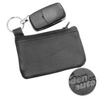Schlüsseltasche Echtleder | Schwarz