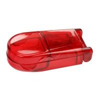 Pillendose  | Rot-Transparent