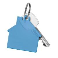Schlüsselanhänger Haus | Blau-Transparent