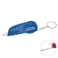 Papiermesser-Schlüsselanhänger | Blau-Transparent