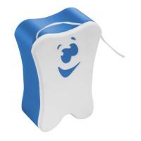 "Zahnseide ""Smiley"" | Weiß / Blau"