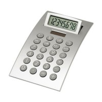 Solar-Tischrechner | Silber / Grau