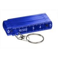 Mini-Kunststoff-Glieder-Zollstock | Blau-Transparent