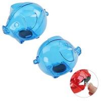 Sparschwein, groß | Blau-Transparent