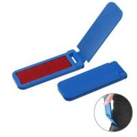 Fusselbürste mit Schuhanzieher | Blau
