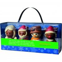 Schokoladenfiguren im Acryl-Träger X-MAS Crew