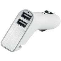 "Metmaxx® USB Car Adapter ""Charge&DriveSecurity"" Plättchen silber"