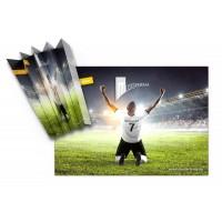 WM-Clapper mit Fußballmotiv