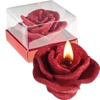 Kerze in Rosenblütenform