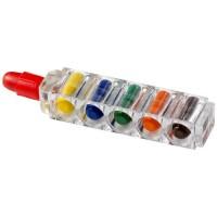 Waxy 6-teiliges Farbstiftset mit durchsichtiger Hülle