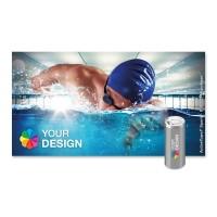 ActiveTowel® Sports Microfaser-Sporthandtuch 130x70 cm | Runddose & Einlegekarte Individuell