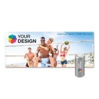 ActiveTowel® Sports Microfaser-Sporthandtuch 180x70 cm | Runddose & Einlegekarte Individuell