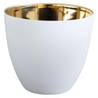 Windlicht Gold Weiss 9 cm