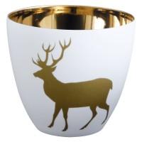 Windlicht Gold Hirsch 7,2 cm