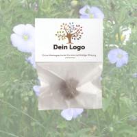 1 Seedbomb im Werbetütchen | Blauer Staudenlein